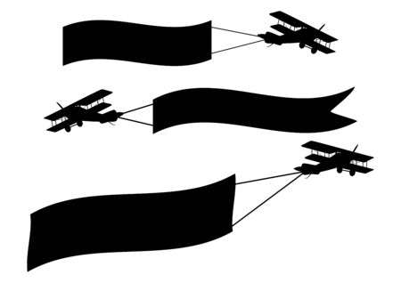 Airplanes with banners Vector