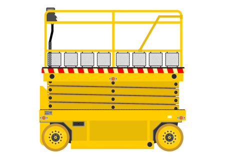 picker: Self propelled scissor lift isolated on white background  Illustration