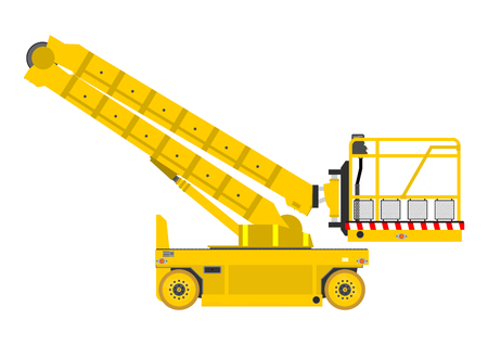 propelled: Self propelled scissor lift isolated on white