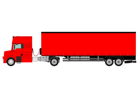 spedition: Large goods vehicle on a white background  Vector
