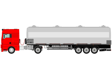 Cartoon tanker truck on a white background Vector