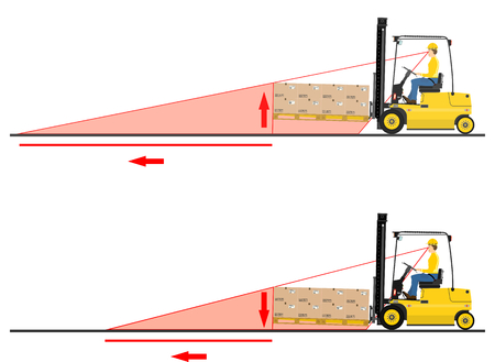 The concept of driving a forklift truck Vectores