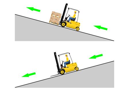Het concept van het besturen van een heftruck Stock Illustratie
