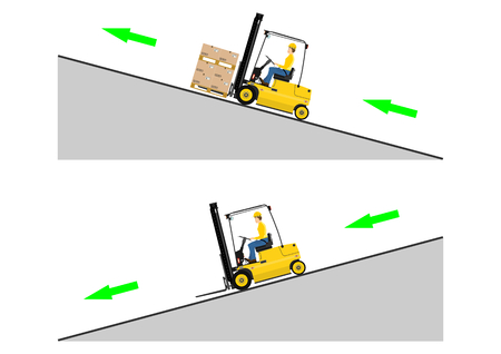 The concept of driving a forklift truck Çizim