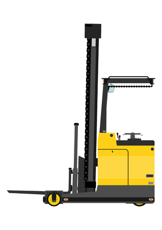 Reach truck on a white background