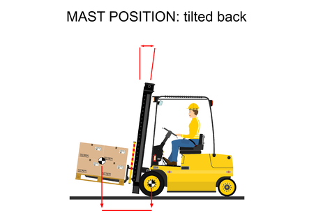Illustration of operating the forklift Vector