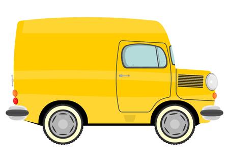 Illustration of funny cartoon truck  Vector Vector