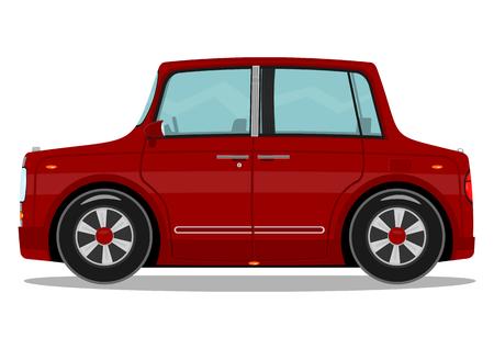 Funny red car  Vector illustration