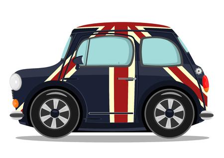 Funny cartoon small car  Vector illustration  Vector