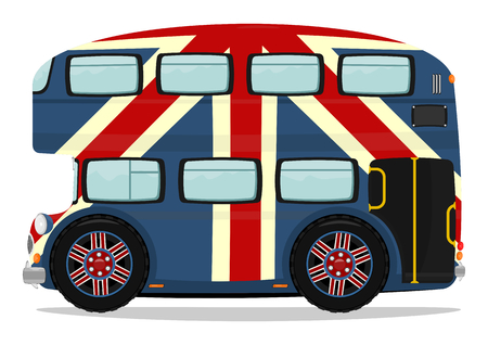 Funny London double-decker bus  Plenty of space for any text  Vector  Vector