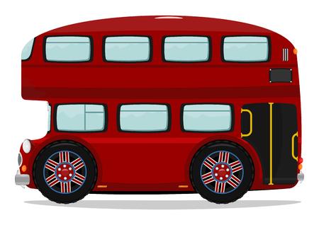 transportes: Divertido de Londres autob�s de dos pisos Un mont�n de espacio para el texto Vector