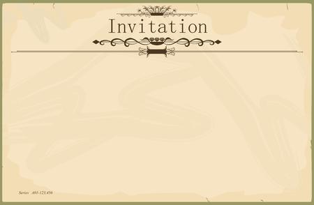 Vintage blank invitation Vectores