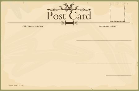Vintage blank postcard Vector
