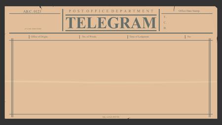 telegrama: Telegrama en blanco en estilo retro.
