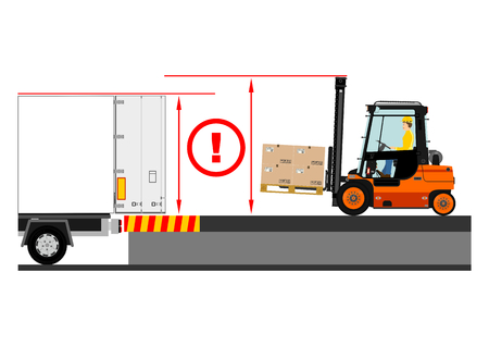 truck driver: Dangers of working with a forklift truck.