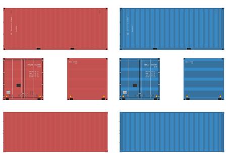 Dostawa kontenerów Ilustracje wektorowe