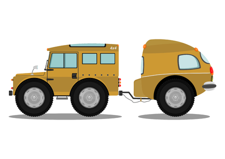 offroad: Funny offroad car. Vector illustration without gradients on one layer.