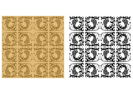 floristic: Seamless pattern of floristic elements Illustration