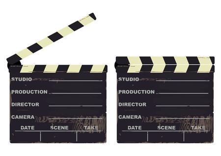 cinematograph: Claqueta. Ilustraci�n vectorial sin gradientes en una sola capa.