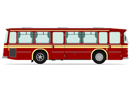 coach bus: Vintage bus. Vector illustration without gradients on one layer. Illustration