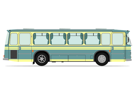 motor coach: Vintage bus. Vector illustration without gradients on one layer. Illustration