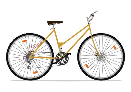 bike vector: Bicicleta de monta�a de la historieta. Ilustraci�n vectorial sin gradientes en una sola capa.
