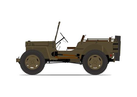 4wd: Vintage military vehicle.
