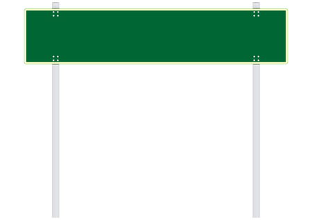 green road: Blank green road sign. Space for any text. Vector without gradients. Illustration