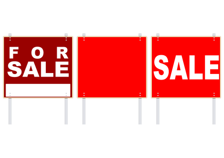 Sale red signs. Plenty of space for any text. Vector