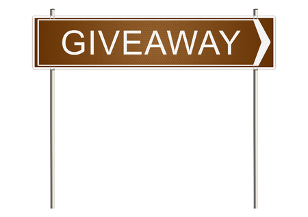 giveaway: Giveaway. Traffic sign on a white background. Raster. Stock Photo