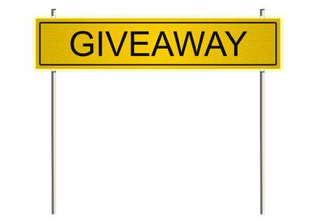 Giveaway. Traffic sign on a white background. Raster. Stock Photo