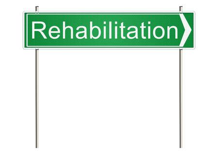 physiotherapist: Rehabilitation. Traffic sign on a white background. Raster. Stock Photo