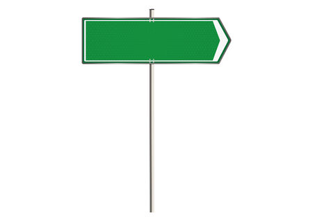 plenty: Blank traffic sign on a white background. Plenty of space for any text. Raster.
