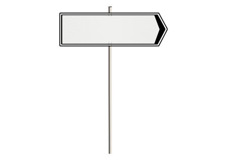 indicator board: Blank traffic sign on a white background. Plenty of space for any text. Raster.