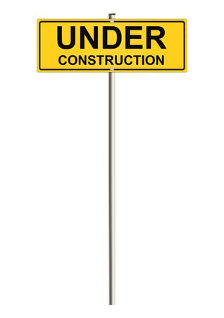 under construction road sign: Under construction. Road sign. Raster.