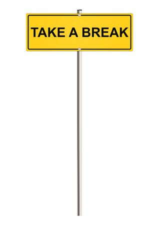 breakout: Break concept on the road sign. Raster.