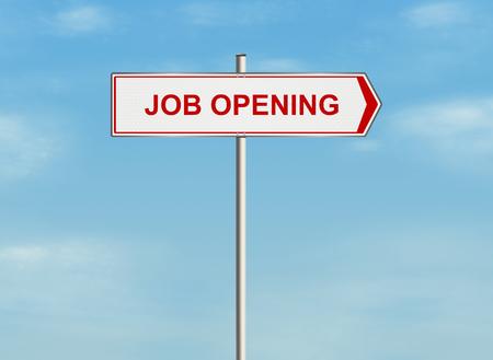 job opening: Apertura de Trabajo. Muestra de camino en el fondo del cielo. Ilustraci�n de la trama.