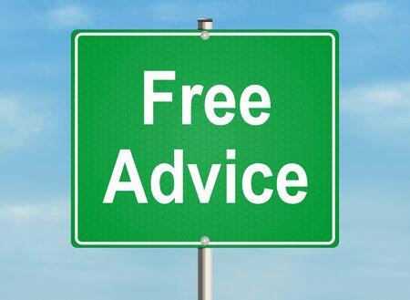 adviser: Free advice Stock Photo