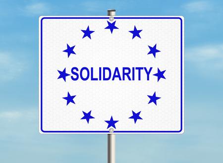 solidaridad: Solidaridad. Muestra de camino en el fondo del cielo. Ilustraci�n de la trama. Foto de archivo