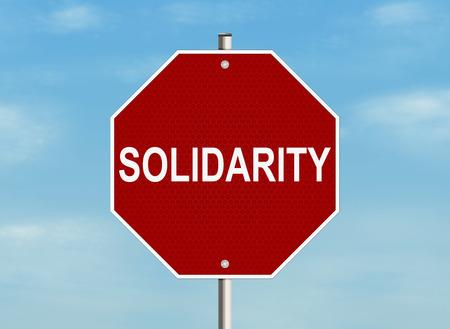 solidaridad: Solidaridad. Muestra de camino en el fondo del cielo. Ilustración de la trama. Foto de archivo