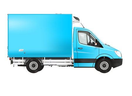 refrigerated: Refrigerated truck on the white background Stock Photo