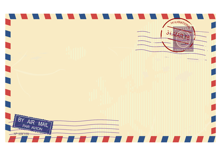 Airmail envelope. Vector base for further Top processing. Without gradients on one layer. Vector Illustration