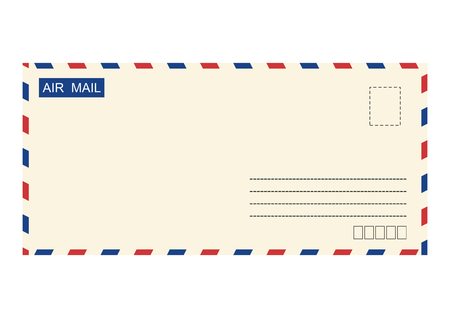 airmail: Airmail envelope. Vector base for further Top processing. Without gradients on one layer.