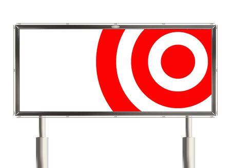 raster illustration: Target. Billboard the white background. Raster illustration.