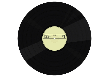 Vintage vinyl record. Flat vector. Illustration