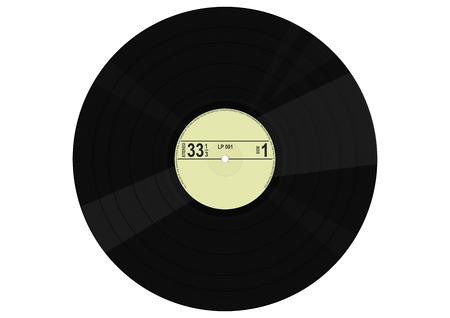 Vintage vinyl record. Flat vector. Ilustrace