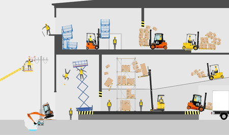 Health and safety hazards. Vector flat. Zdjęcie Seryjne - 75378993