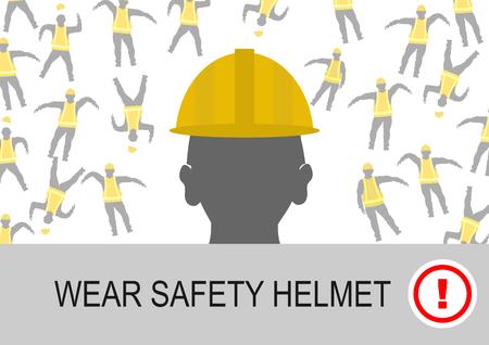 安全ヘルメットを着用します。