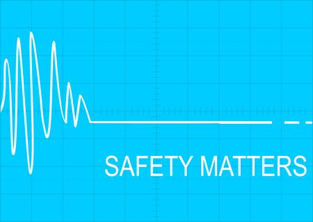 Safety matters. Illustration with cardiogram pattern. Vector flat. Illustration