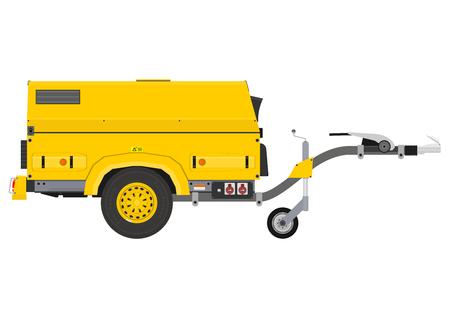 Mobile generator. Side view. Flat vector. Vector Illustratie